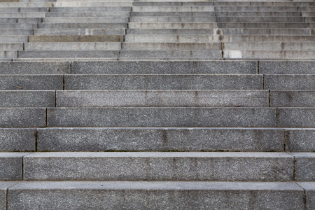 stairs: Abstract modern concrete stairs to building - stairway composition Stock Photo