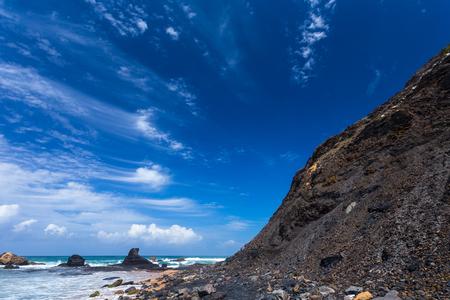 region of algarve: Atlantic ocean in Algarve region coast beach, Portugal Stock Photo