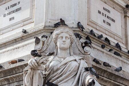 dom: Statue de Dom Pedro IV au Rossio, Lisbonne, Portugal