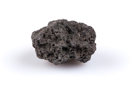 natural force: Volcanic stones on a white background