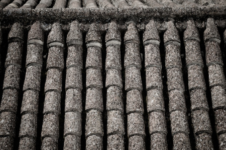 roof tiles: Background of old roof tiles as a texture Stock Photo