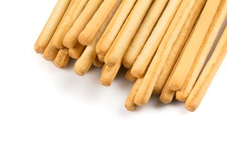 sesame cracker: bread sticks isolated on a white background