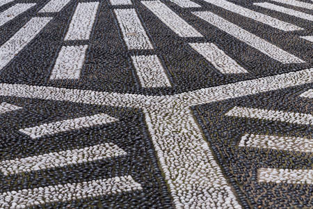 ancient pass: Cobblestone paving texture of an itallian square