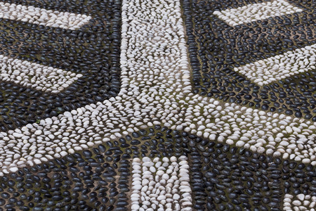 ancient pass: Cobblestone paving texture of an itallian square for background Stock Photo