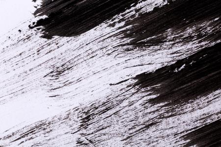 arte moderno: Pintura negro aislado en el fondo de papel blanco Foto de archivo