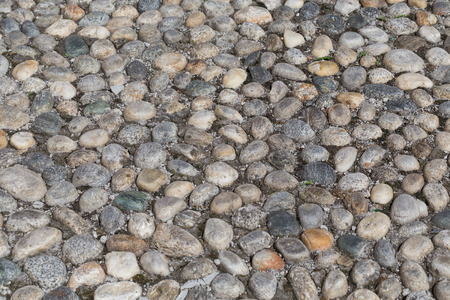 cobblestones: Texture of the cobblestones in Park.