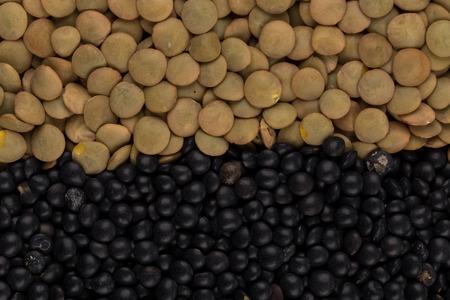 leguminosas: Mezcla de Vaus legumbres lentejas de color para el fondo