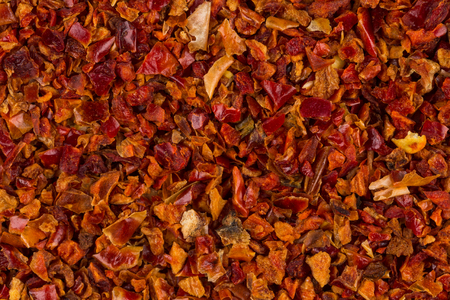 crushed: Crushed red chili pepper for background texture