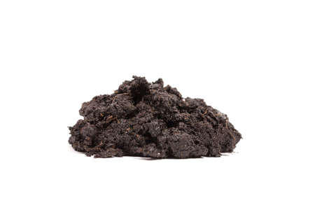 earth handful: Pile of soil isolated on white background