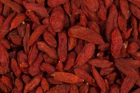 barbarum: Chinese goji berries close up as a background Stock Photo