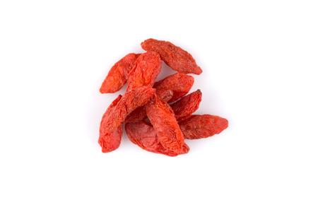 chinese wolfberry: Chinese goji berries close up on white background