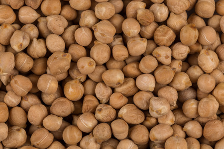 Chick-pea beans for background. Close up shot Stock Photo