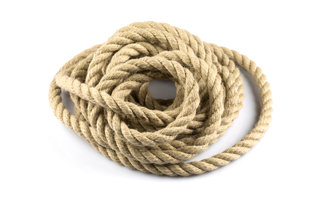 twisted: Twisted thick rope isolated on white background