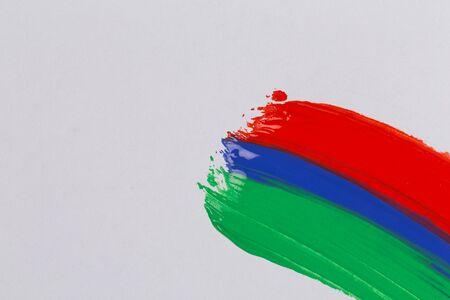 acrylic paint: Acrylic paint colorful brush strokes. Stock Photo