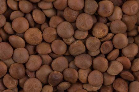 Brown close up legumes lentils for background