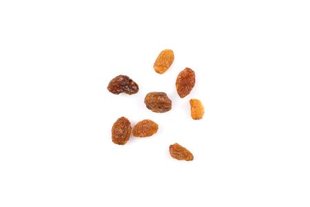 Sweet dry raisins isolated on the white background