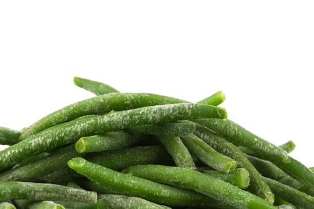 haricot: Frozen cut green beans vegetable, isolated on white