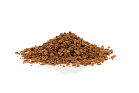 Heap of instant coffee isolated on white background Stock Photo