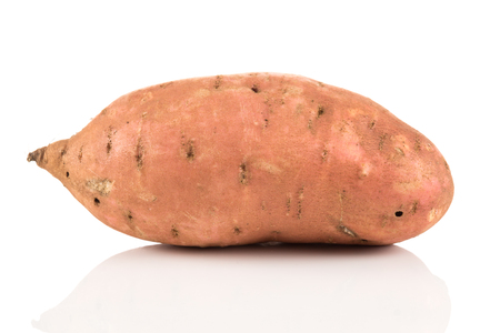 Sweet potato batata on the white background isolated Stock Photo - 89926726