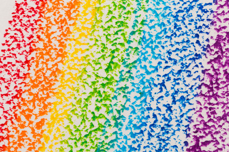 Wax crayon hand drawing rainbow background