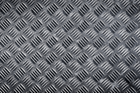 Metal floor plate with diamond pattern texture for background