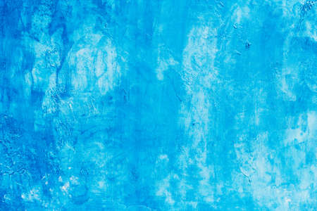 abstract blue background texture concrete or plaster hand made wall Stok Fotoğraf