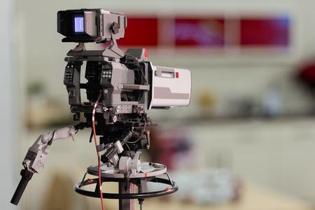 television production: TV Studio Camera Stock Photo