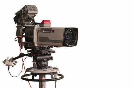 optional: A television camera in a TV show optional