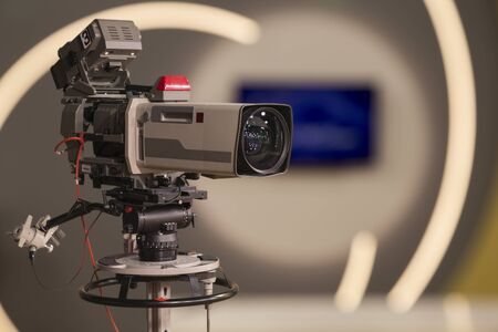 tv show: A television camera in a TV show