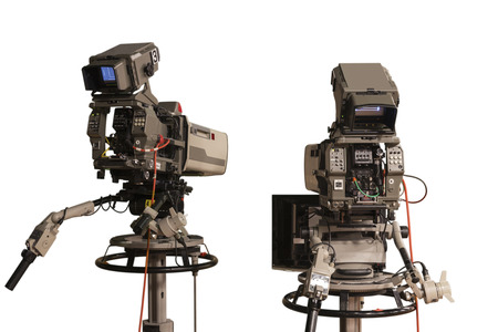 optional: Two television cameras in a TV show optional