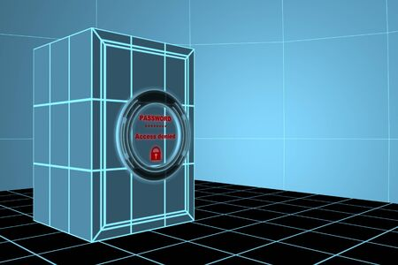 denied: Access denied Stock Photo
