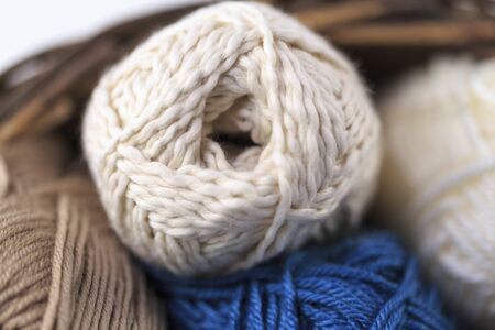 weave ball: Tons of wool Stock Photo