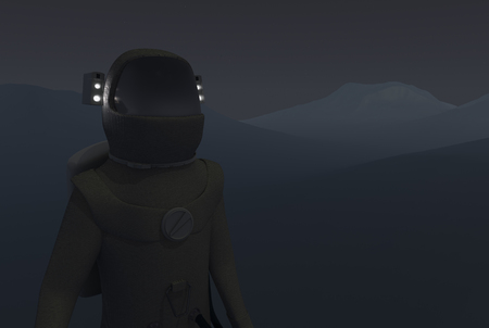 night suit: Astronaut on a sand planet