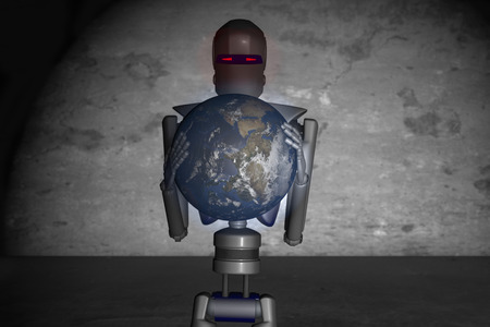 strive for: robots out of control strive for world domination Stock Photo