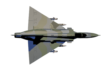 A jetfighter. Isolated. (3d cartoon rendering)