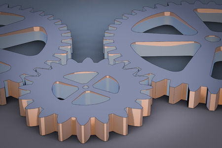 cohesion: Gears as a symbol for teamwork
