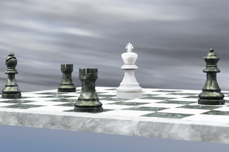 no way: For the king there is no way out (3d rendering)