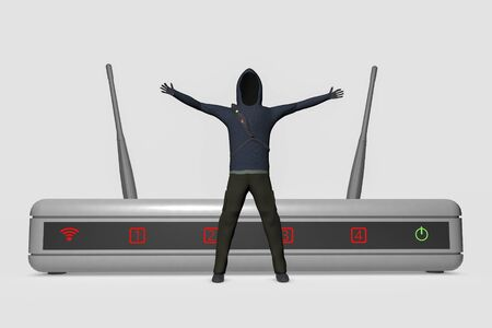 unnamed: A hacker infiltrates on internet router