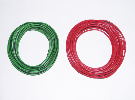 coil of wire red and green on white background Stock Photo - 1696161