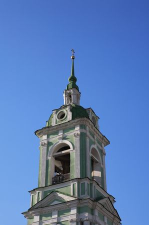 bell tower in city center on sky background Stock Photo - 1744203