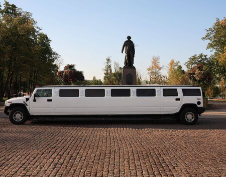 wedding limousine waiting on ceremony september dailytime 版權商用圖片 - 1908006