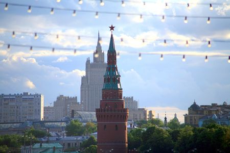 kremlin in cityscape photo