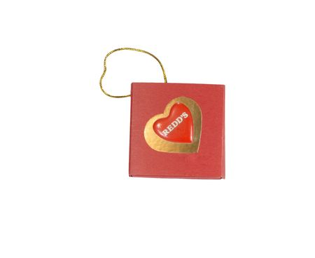 spliced: carton valentine with gold wattled cord Stock Photo