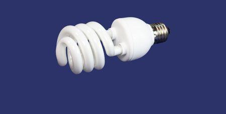 luminous tube lamp on blue background Stock Photo - 3019309