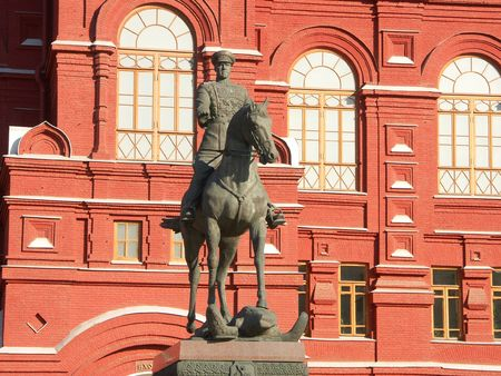 historic museum in moscow close up photo
