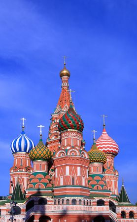 blessed Basil cathedral in moscow close up Stock Photo - 3261870