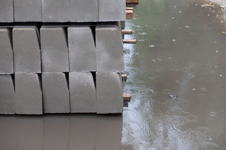 edge stone pack coupled at rain photo