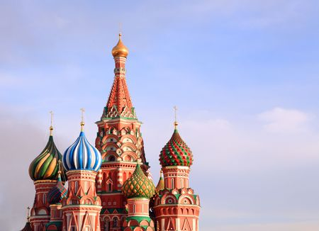blessed Basil cathedral in moscow Stock Photo - 3342700
