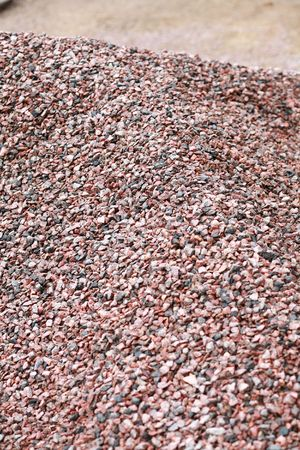concreting: heap of gravel at dayli time