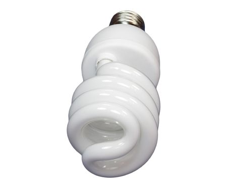 luminous tube lamp on white background, isolated photo